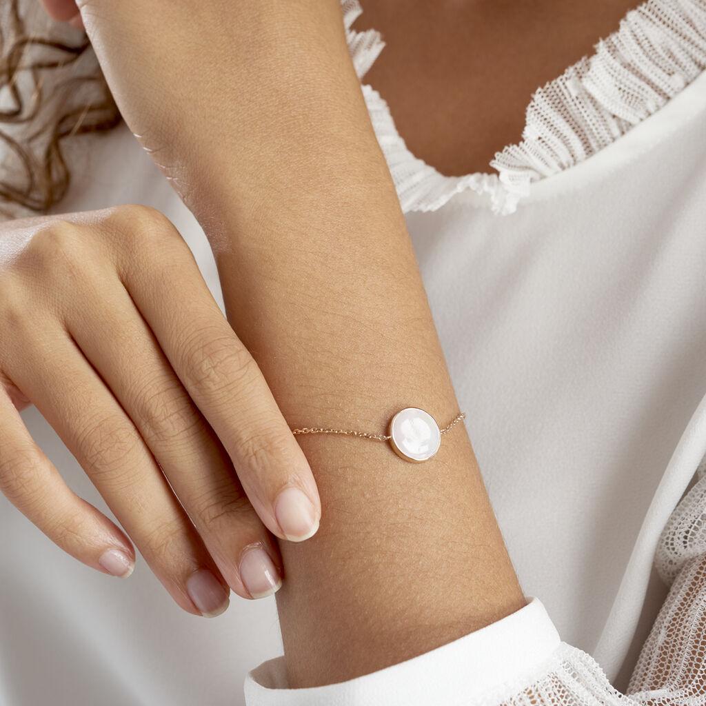 Bracelet Alta Plaque Or Jaune Nacre - Bracelets fantaisie Femme   Histoire d'Or