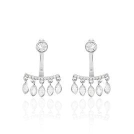 Bijoux D'oreilles Ishana Argent Blanc Oxyde De Zirconium - Boucles d'oreilles fantaisie Femme | Histoire d'Or