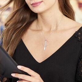 Collier Auxanne Argent Blanc - Colliers Plume Femme | Histoire d'Or