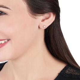 Boucles D'oreilles Puces Fadella Or Jaune Perle De Culture - Clous d'oreilles Femme   Histoire d'Or