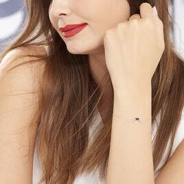 Bracelet Corneliana Argent Blanc Oxyde De Zirconium - Bracelets fantaisie Femme   Histoire d'Or