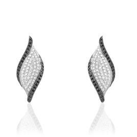 Boucles D'oreilles Pendantes Averill Argent Blanc Oxyde De Zirconium - Boucles d'oreilles pendantes Femme | Histoire d'Or