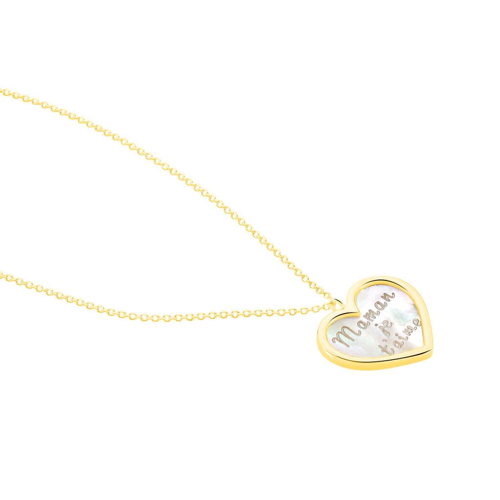 Collier Josine Or Jaune Nacre - Colliers Coeur Femme | Histoire d'Or