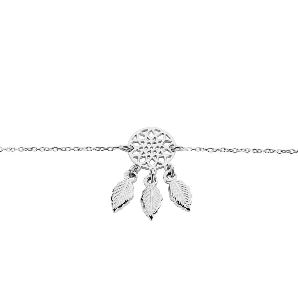 Bracelet Ida Argent Blanc - Bracelets Attrape rêves Femme   Histoire d'Or