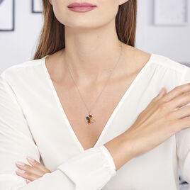 Collier Oviya Argent Blanc Ambre - Colliers fantaisie Femme | Histoire d'Or
