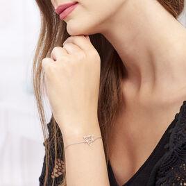 Bracelet Fidela Argent Blanc - Bracelets fantaisie Femme   Histoire d'Or