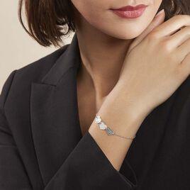 Bracelet Yrina Argent Blanc - Bracelets Coeur Femme | Histoire d'Or