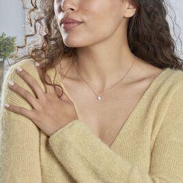Collier Vickie Argent Blanc Oxyde De Zirconium - Colliers fantaisie Femme | Histoire d'Or
