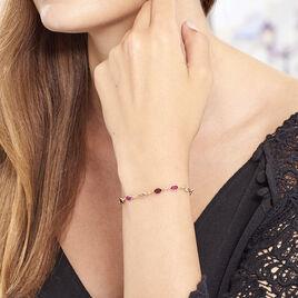 Bracelet Plaque Or Ilvaae Pierres Multi-roses - Bracelets fantaisie Femme   Histoire d'Or