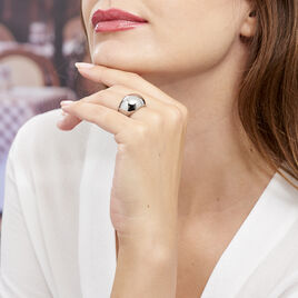 Bague Cleoria Acier Blanc - Bagues fantaisie Femme | Histoire d'Or