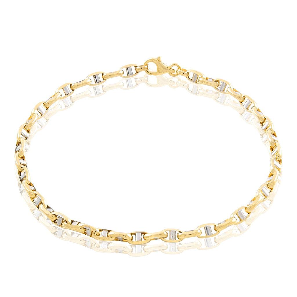 Bracelet Carlo Maille Marine Ronde Or Bicolore - Bracelets chaîne Homme | Histoire d'Or