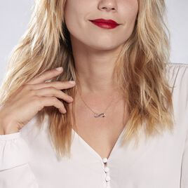 Collier Or Bicolore Nerice Saphir - Colliers Infini Femme | Histoire d'Or