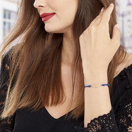Bracelet Argent Rose Kim - Bracelets cordon Femme | Histoire d'Or