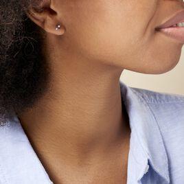 Boucles D'oreilles Pendantes Enid Or Blanc Diamant - Clous d'oreilles Femme   Histoire d'Or