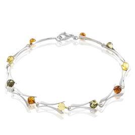Bracelet Sarai Argent Blanc Ambre - Bijoux Femme | Histoire d'Or