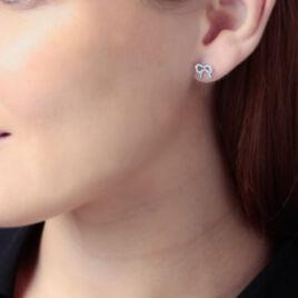 Boucles D'oreilles Pendantes Rezzan Argent Blanc Oxyde De Zirconium - Boucles d'oreilles fantaisie Femme   Histoire d'Or
