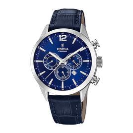 Montre Festina Timeless Chronograph Bleu - Montres Homme | Histoire d'Or