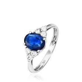 Bague Lea Or Blanc Saphir Et Diamant - Bagues avec pierre Femme | Histoire d'Or