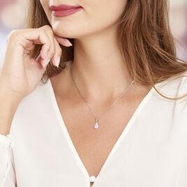Collier Silvette Argent Blanc Oxyde De Zirconium - Colliers fantaisie Femme   Histoire d'Or