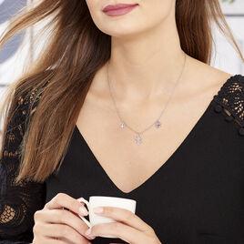 Collier Nedira Argent Blanc - Colliers Trèfle Femme | Histoire d'Or