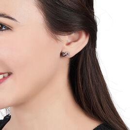 Boucles D'oreilles Pendantes Marcella Argent Blanc Oxyde De Zirconium - Boucles d'Oreilles Coeur Femme | Histoire d'Or