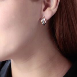 Créoles Horus Vrillees Fils Carres Or Tricolore - Boucles d'oreilles créoles Femme | Histoire d'Or