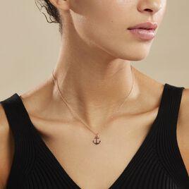 Collier Sacha Argent Rose - Bijoux Ancre Femme | Histoire d'Or