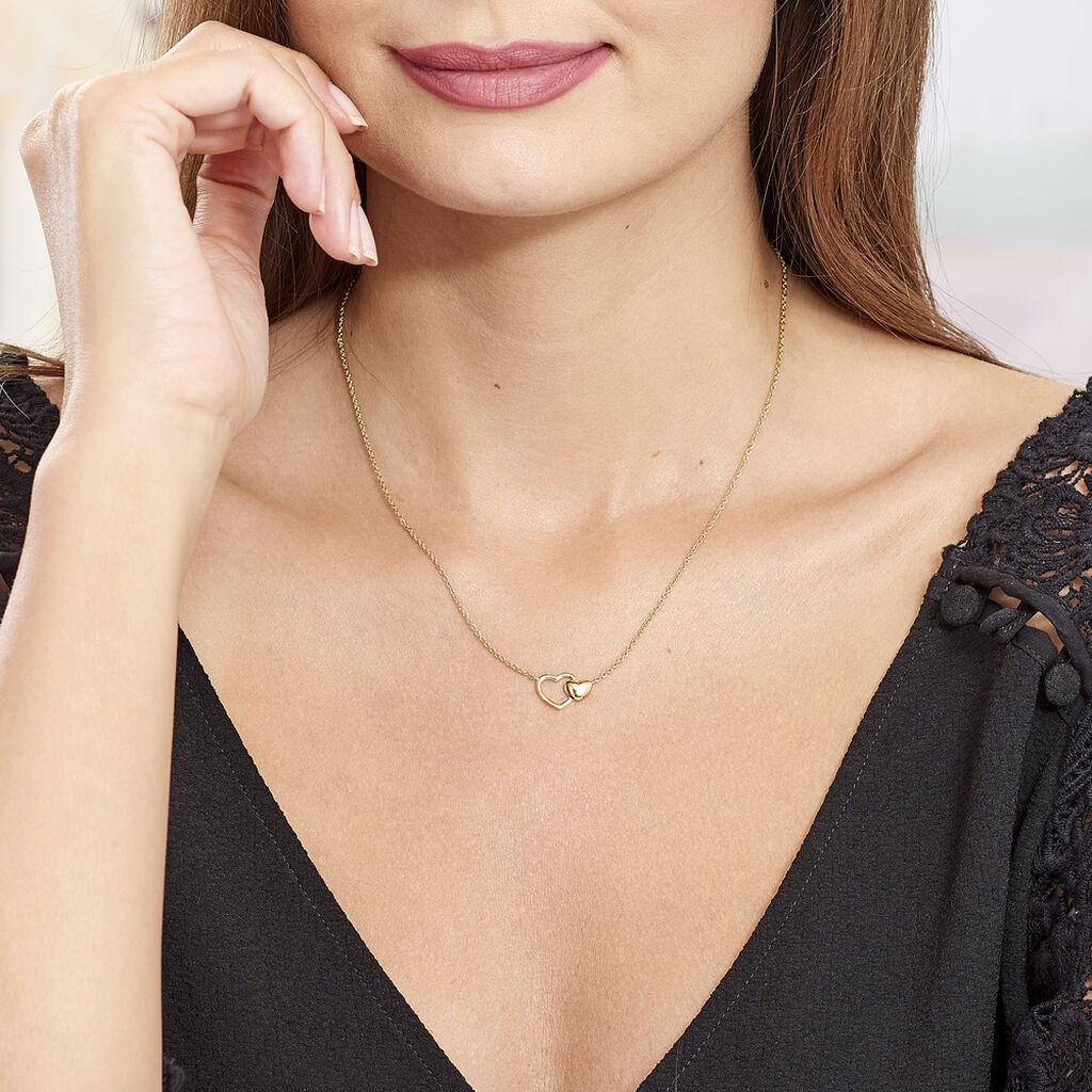 Collier Karelae Plaque Or Jaune - Colliers Coeur Femme | Histoire d'Or