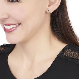 Boucles D'oreilles Puces Ambrosie Hippocampe Or Jaune - Clous d'oreilles Femme | Histoire d'Or