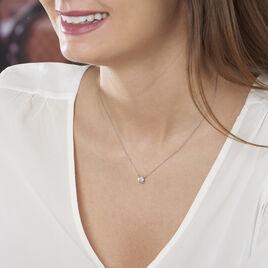 Collier Ponama Or Blanc Oxyde De Zirconium - Bijoux Femme | Histoire d'Or