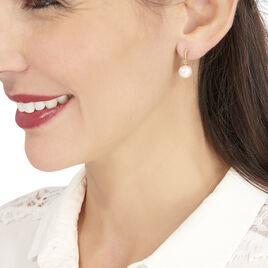 Boucles D'oreilles Pendantes Sibylle Or Jaune Perle De Culture - Boucles d'oreilles pendantes Femme | Histoire d'Or