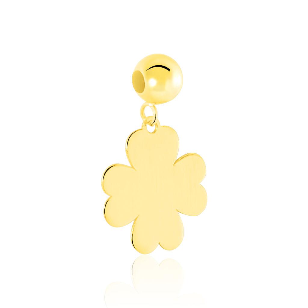 Charms Lebna Or Jaune - Pendentifs Trèfle Femme   Histoire d'Or