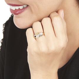 Bague Lizia Or Jaune Diamant - Bagues avec pierre Femme   Histoire d'Or