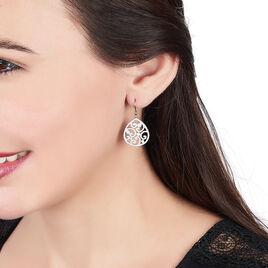 Boucles D'oreilles Pendantes Leylia Acier Blanc - Boucles d'oreilles fantaisie Femme | Histoire d'Or