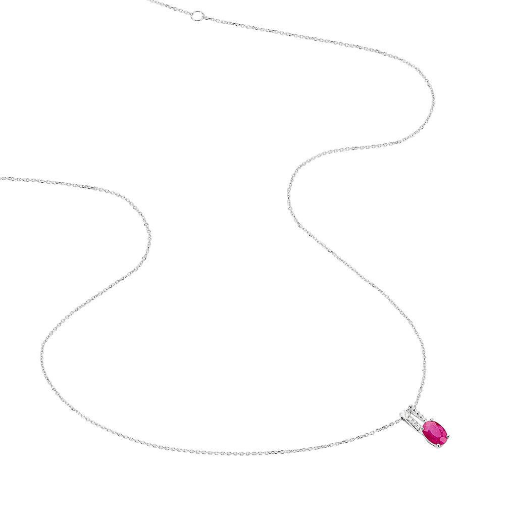 Collier Andrea Or Blanc Rubis Et Diamant - Bijoux Femme | Histoire d'Or