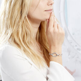 Bracelet Aelyn Argent Blanc - Bracelets Infini Femme | Histoire d'Or