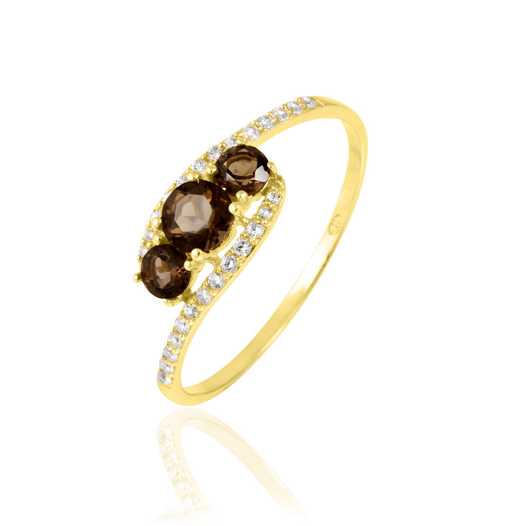 Bague Or Jaune Chloe Trilogie Quartz