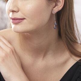 Boucles D'oreilles Pendantes Axell Argent Blanc Perle De Culture - Boucles d'oreilles fantaisie Femme | Histoire d'Or