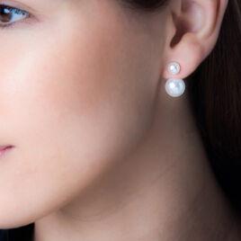 Bijoux D'oreilles Metisse Or Jaune Perle De Culture - Ear cuffs Femme   Histoire d'Or