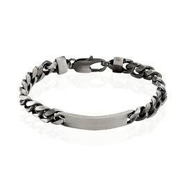 Bracelet Identité Esteban Acier Gris - Bracelets fantaisie Homme | Histoire d'Or