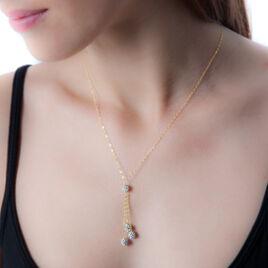 Collier Ilisa Or Jaune Strass - Bijoux Femme | Histoire d'Or