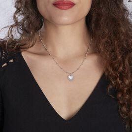Collier Argent Blanc - Colliers Coeur Femme | Histoire d'Or