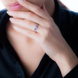 Bague Daniela Or Blanc Amethyste Et Diamant Et Topaze - Bagues avec pierre Femme | Histoire d'Or