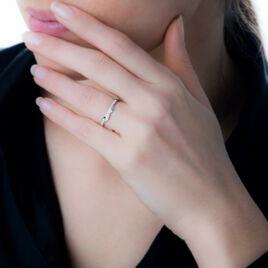 Bague Marilou Or Blanc Diamant - Bagues avec pierre Femme | Histoire d'Or