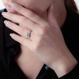 Bague Kim-lien Or Bicolore Diamant - Bagues avec pierre Femme | Histoire d'Or