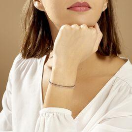 Bracelet Gabriela Argent Tricolore - Bracelets fantaisie Femme | Histoire d'Or