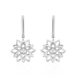 Boucles D'oreilles Pendantes Italane Or Blanc Diamant - Boucles d'oreilles pendantes Femme   Histoire d'Or