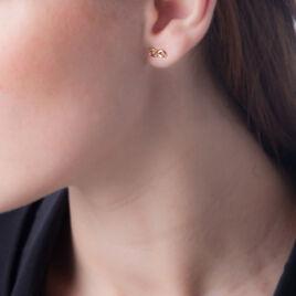Boucles D'oreilles Puces Ajna Plaque Or Jaune - Boucles d'Oreilles Infini Femme | Histoire d'Or