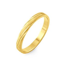 Alliance Eros Brossee Ruban Plat Or Jaune - Alliances Unisexe | Histoire d'Or