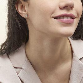 Boucles D'oreilles Dépareillées Lyana Argent Blanc Oxyde De Zirconium - Boucles d'Oreilles Lune Femme | Histoire d'Or